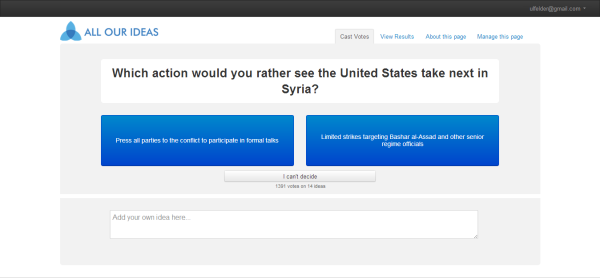 syria wiki survey respondent interface screenshot