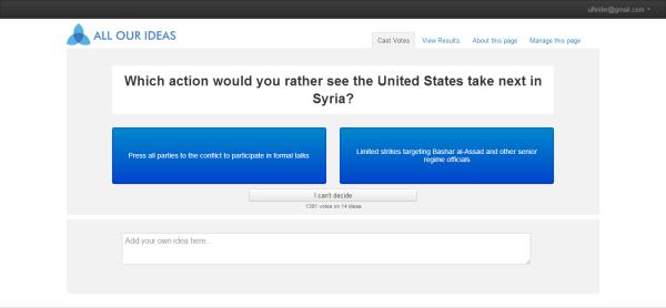 syria wiki survey respondent interface screenshot