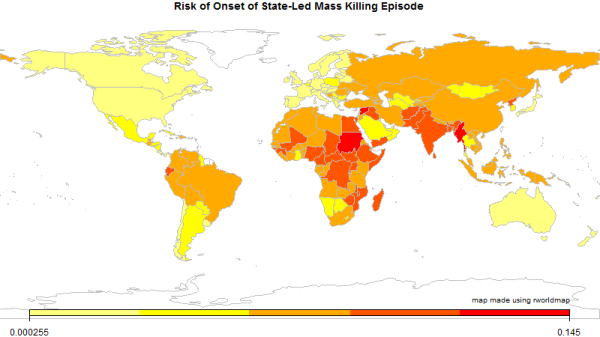 Estimated Risk of New Episode of State-Led Mass Killing